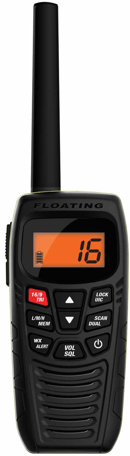 ATLANTIS270 - Uniden 6 Watt Floating Vhf Marine Handheld Radio