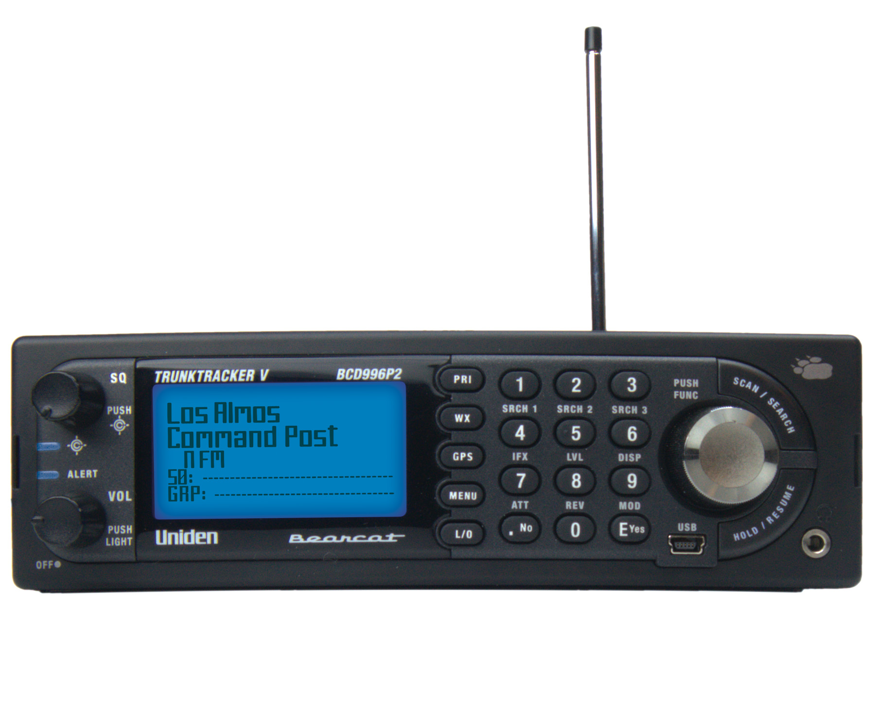 BCD996P2 - Uniden 25,000 Channel Narrow Band Digital Mobile & Base Scanner