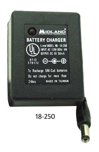 120V AC Adapter 60Hz 4 Watt - Out 9V 50Ma