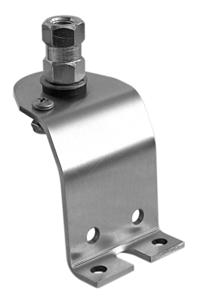 SAGM1-L - Stainless Steel Left Side Fender Antenna Mount