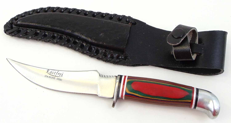 "PAK1028 - 9"" Skinning Knife With Leather Sheath"