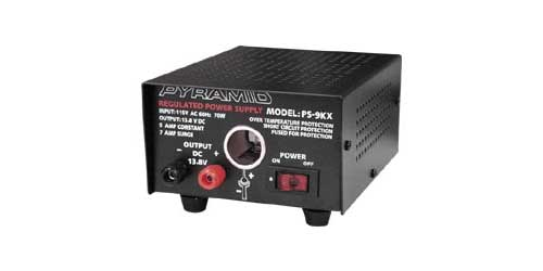 PS9 - Pyramid 5 Amp Constant / 7 Amp Surge Power Supply with Cigarette Plug