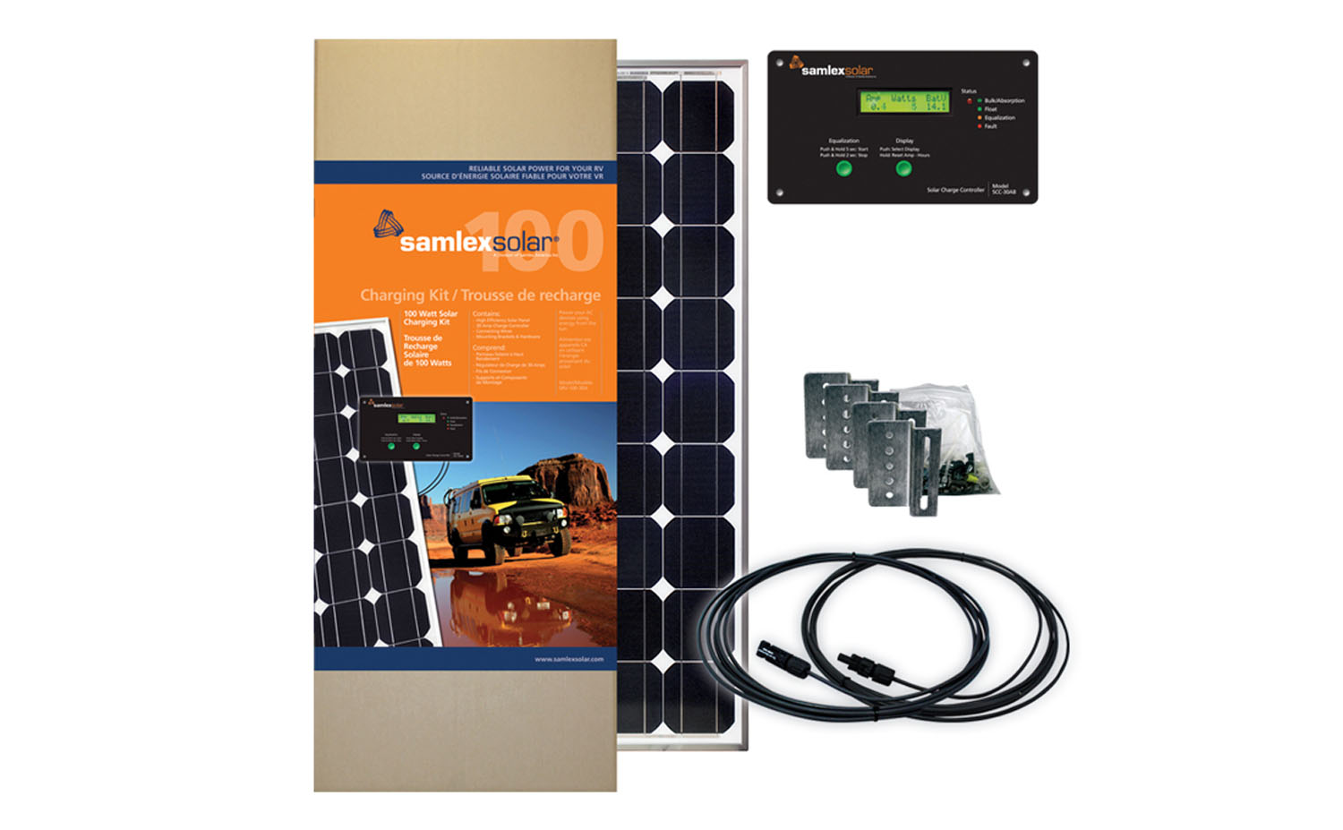 SRV10030A - Samlex 100 Watt Solar Charging Kit