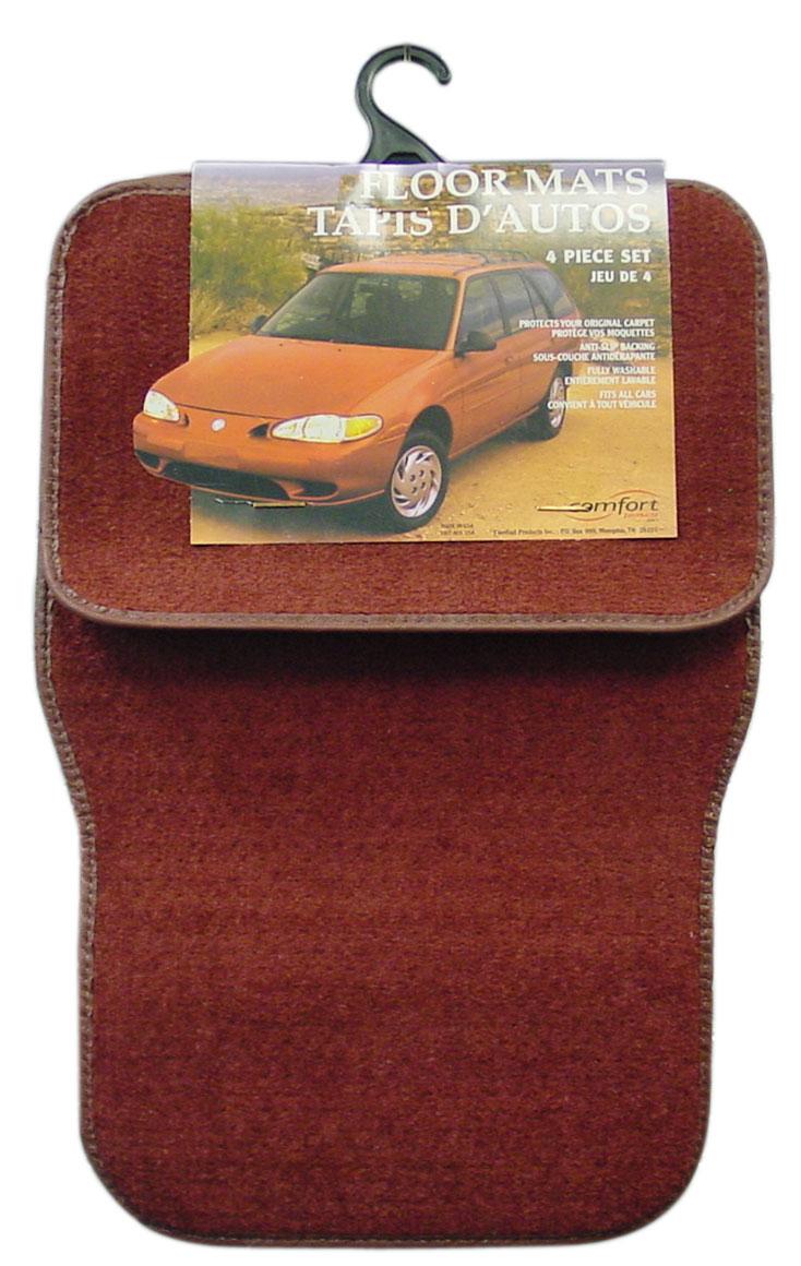 0241079RD - 4 Piece Carpet Car Vehicle Mat