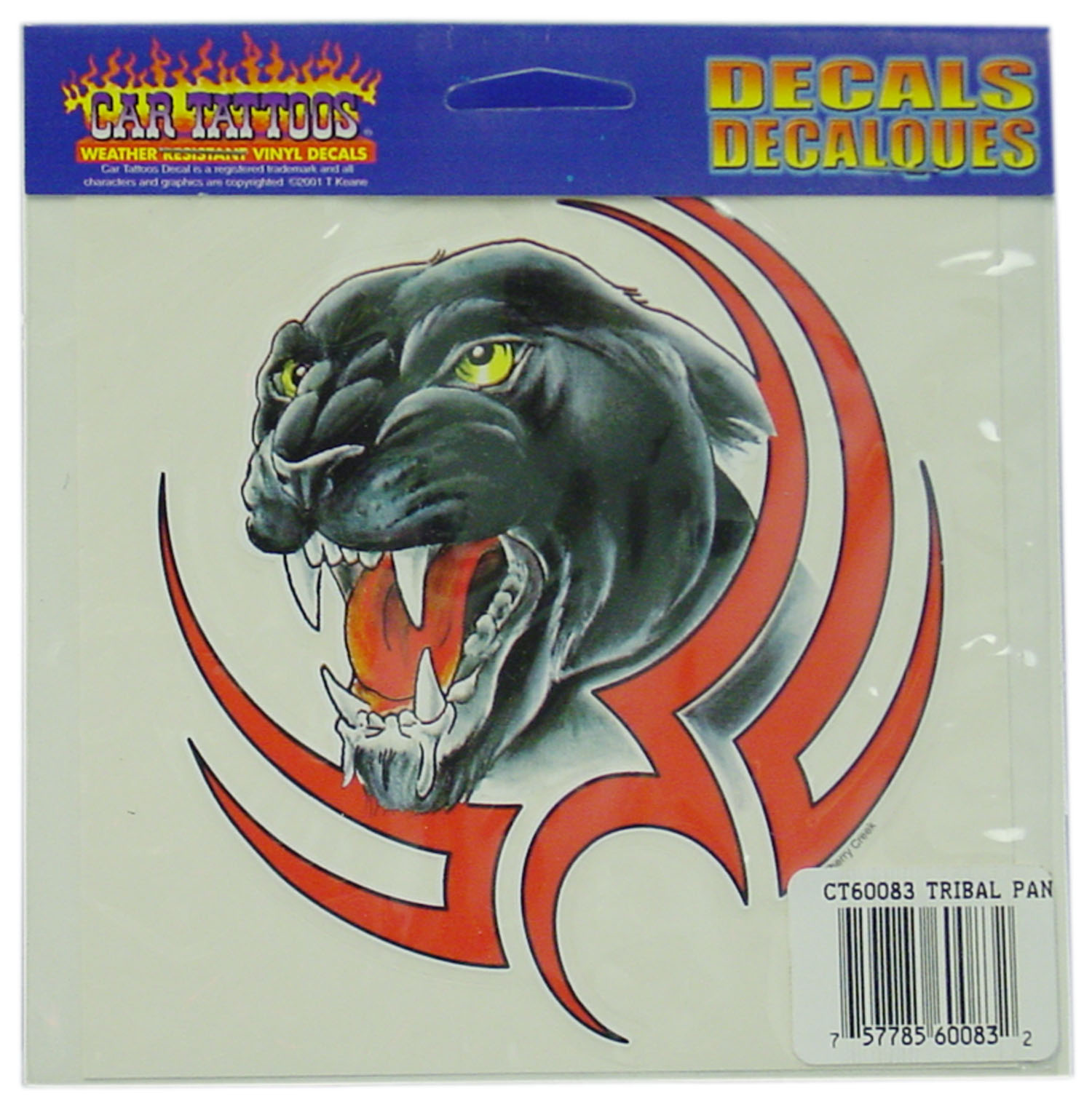 04560083 - Tribal Panther Vinyl Car Decal