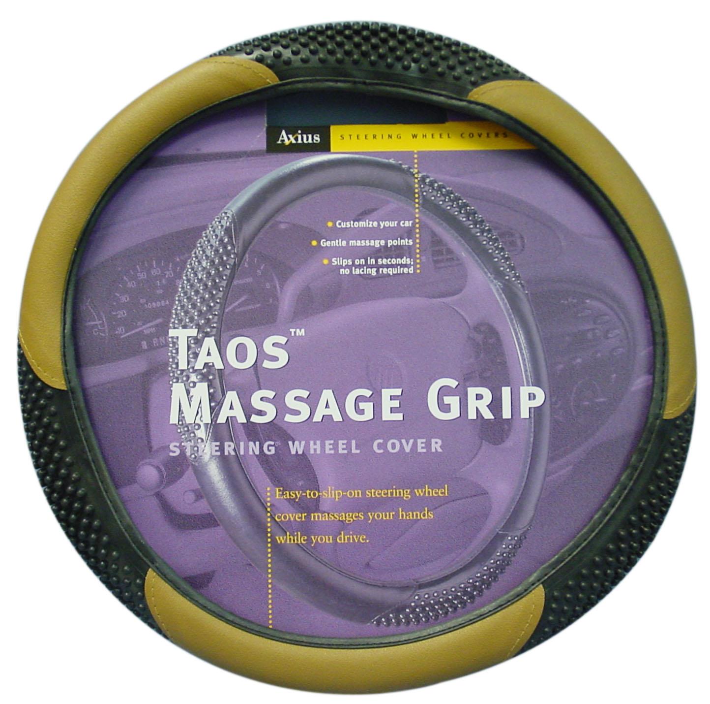 04637909 - Taos Massage Grip Steering Wheel Cover - Tan