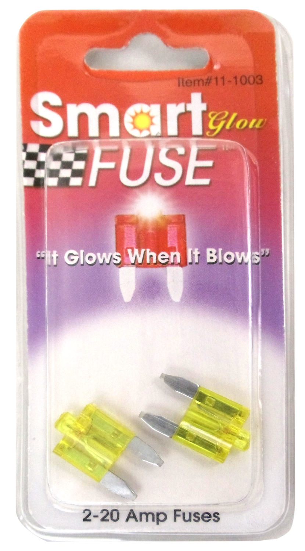 05800113 - 20 Amp 2 Pack Smart Glow Blade Fuses
