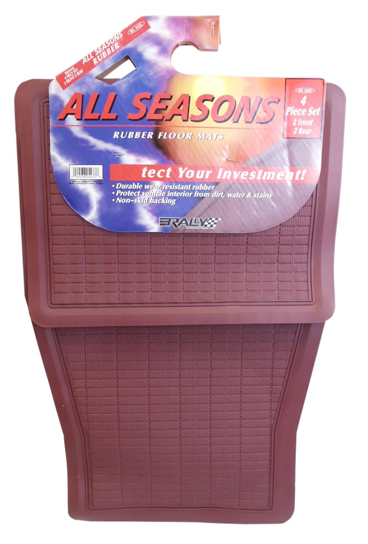 11005433 - Rally Automotive 4 Piece Universal All Season Rubber Mat Set