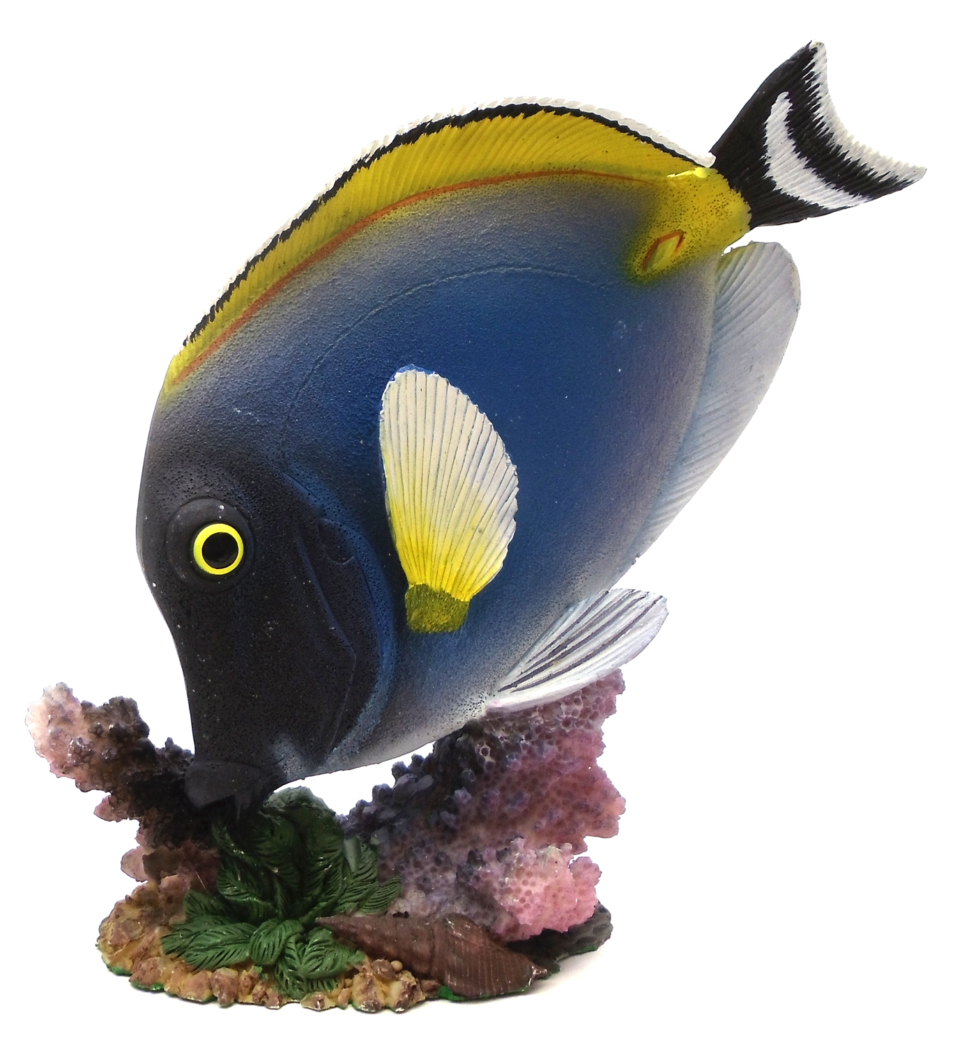 1255530-B - Resin Decorative Tropical Fish Statue - Blue