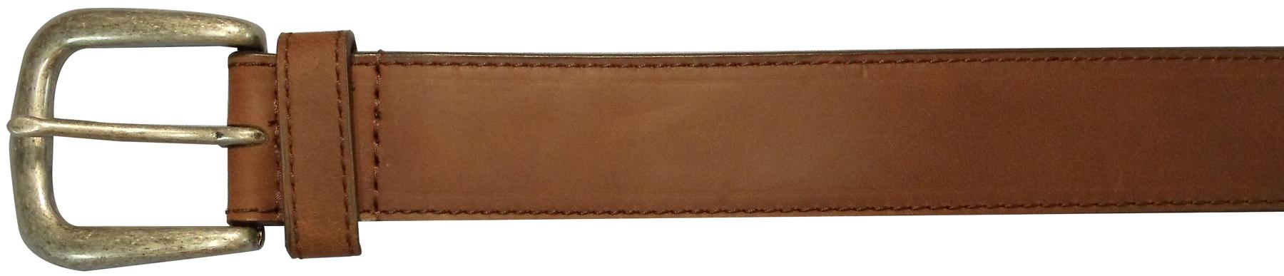 "10625410238 - 38"" Plain Brown Leather Field & Stream Belt"