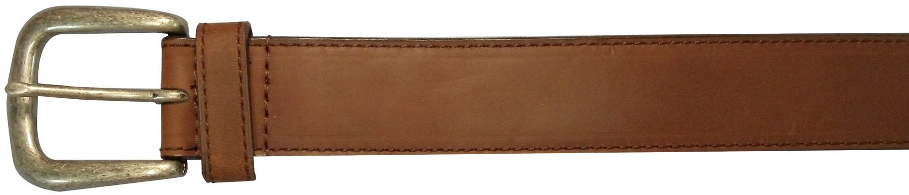 "10625410234 - 34"" Plain Brown Leather Field & Stream Belt"