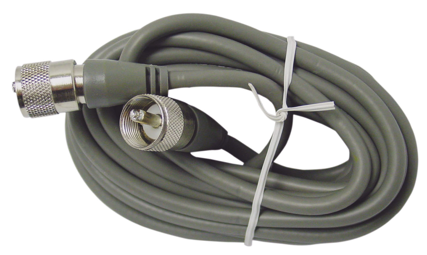 360528 - 9' RG8X 95% Shielded Grey Coax Cable