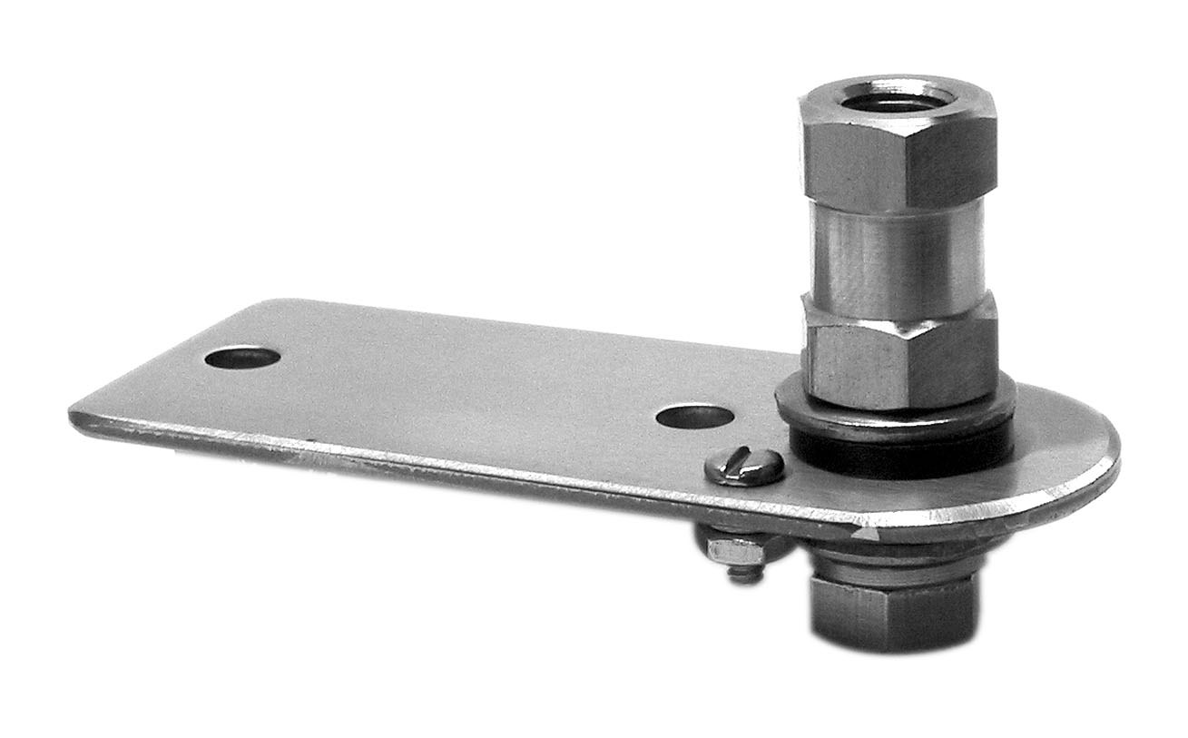 "K10 - Kalibur 3-1/2"" Flat Stainless Steel Antenna Mount With Lug Stud"