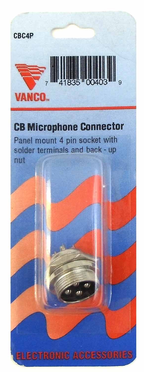 CBC4P - Marmat Panel Mount 4 Pin Socket With Solder Terminals
