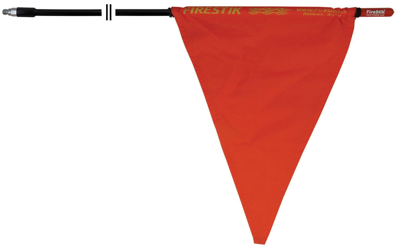 """F6-B - Firestik 6' 3/8""""X24 Thread Black Mast With Orange Safety Flag"""