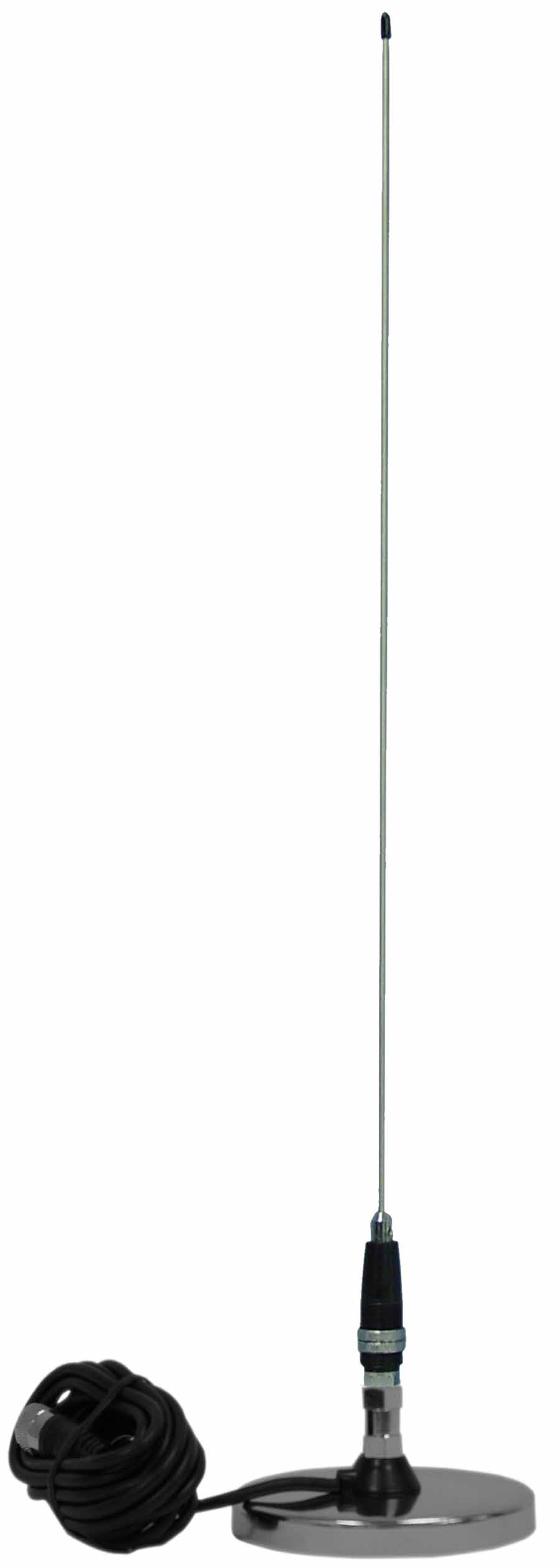 "JBC112-2400 - ProComm Kwik Tune 2' Whip CB Antenna with 3"" Chrome Magnet & 12' Coax"
