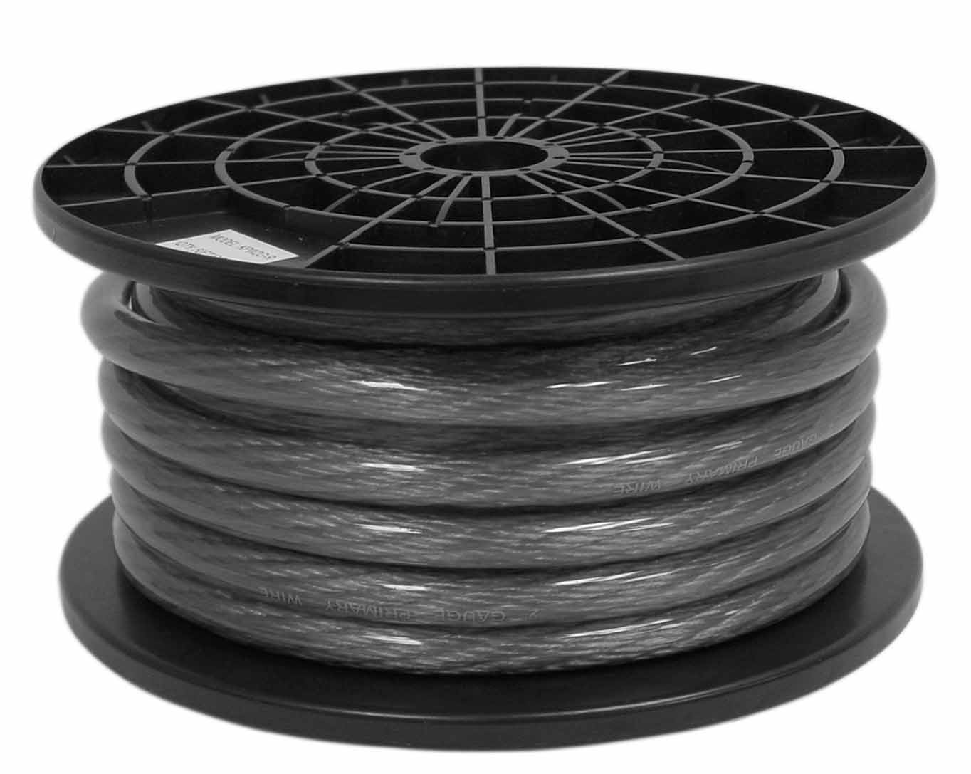KPW2G-B - Kalibur 2 Gauge Power Wire (Black) 50' Roll