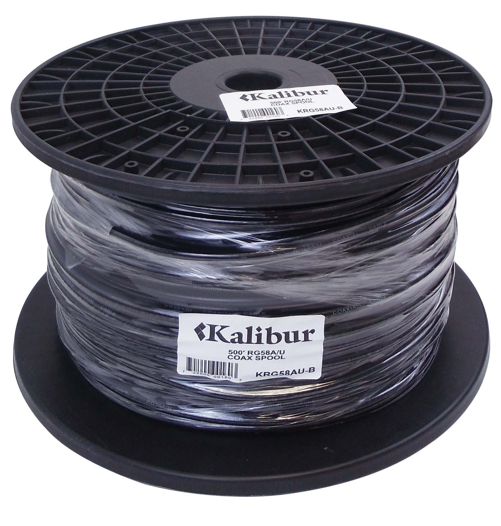 KRG58AU-B - Kalibur 500' Spool Of RG58A/U Coax Cable
