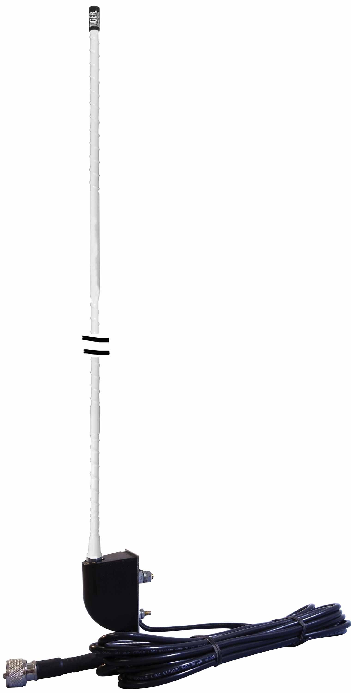 NGP1SM - Everhardt 4' Fiberglass No Ground Plane Antenna Side Mount (White)