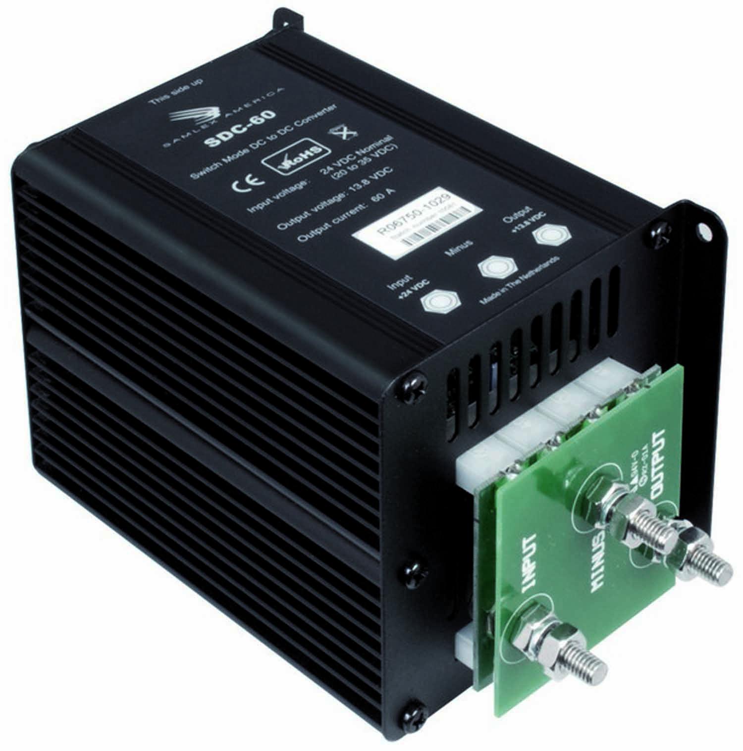 SDC60 - SAMLEX - SDC60 HIGH EFFICIENCY SWITCH MODE STEP DOWN DC-DC CONVERTER  - CONVERTS 24 VDC TO 12 VDC