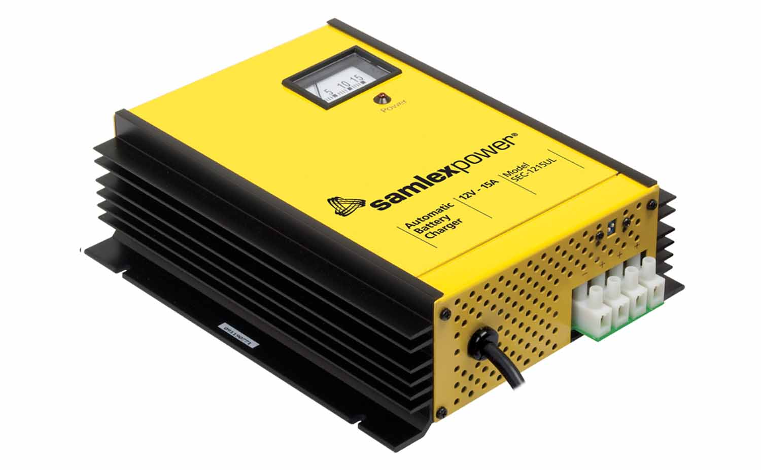 SEC2415UL - Samlex 24 Volt 15 Amp Automatic Switch Mode Battery Charger For Lead Acid Batteries Flooded, Agm Or Gel Cell, Ul Approved