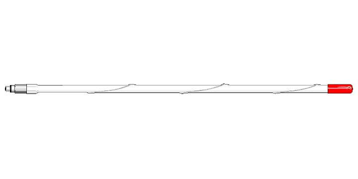 """MURS45-W - 25"""" MURS MOBILE ANTENNA 5/8 WAVE (WHITE)"""