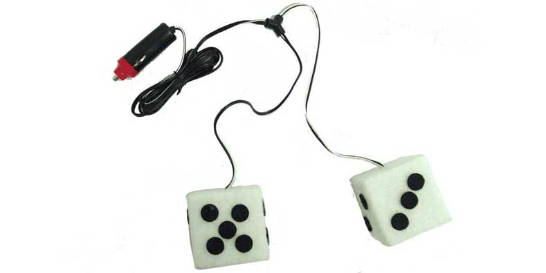 024760 - White 12V Hanging Lighted Dice