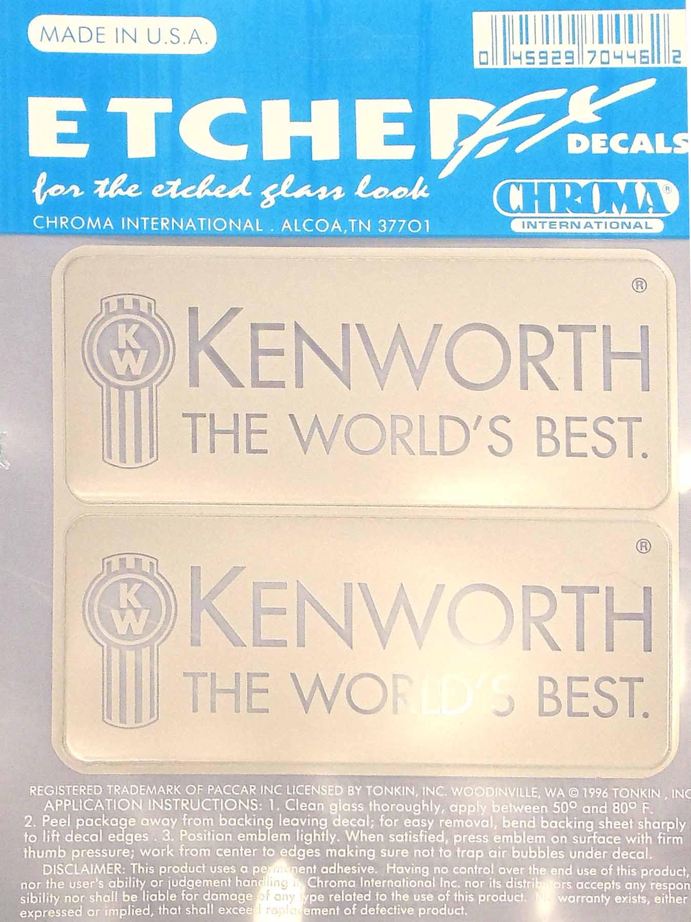 04570446 - Etched Fx Kenworth