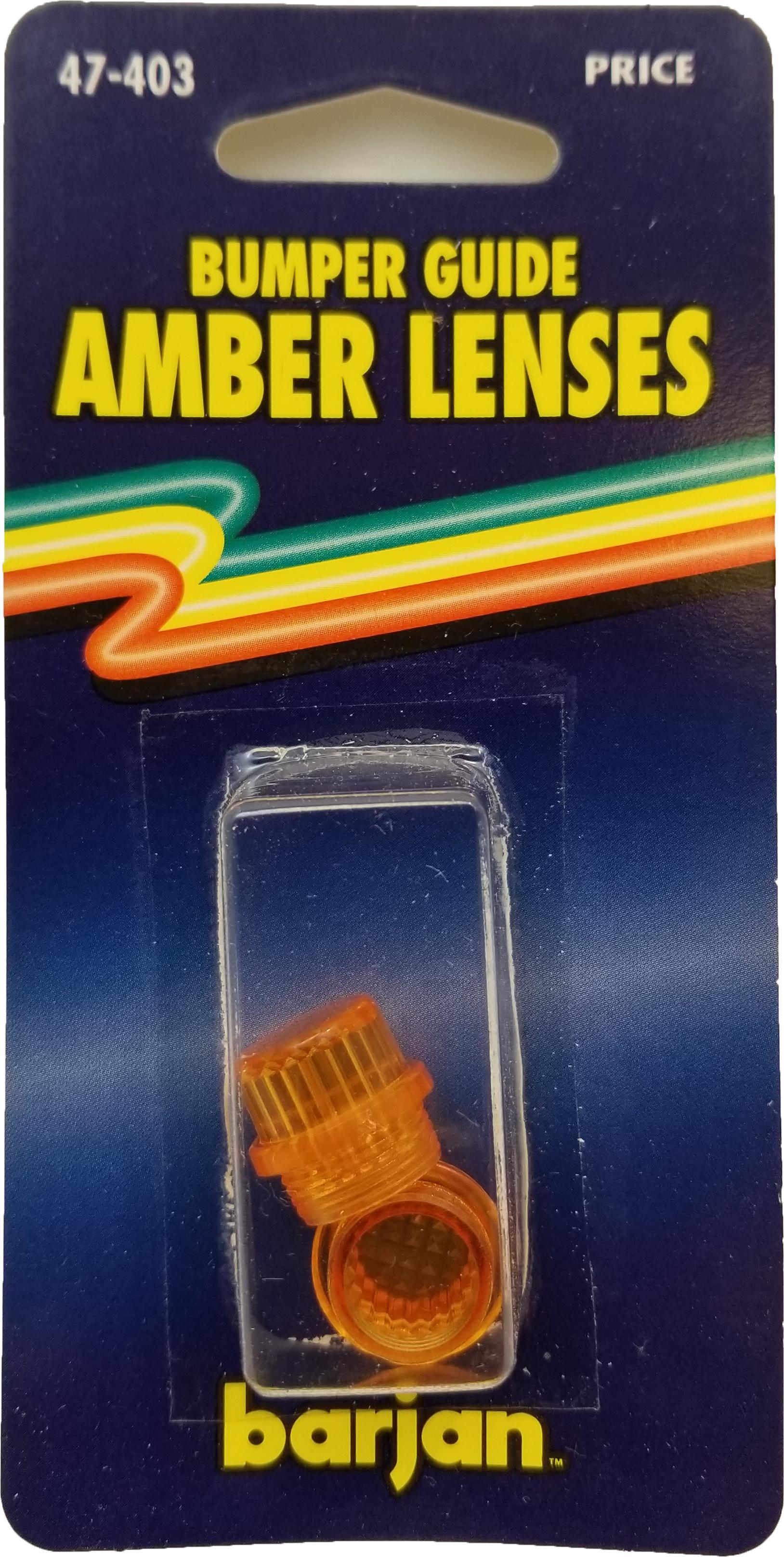 047403 - Bumper Guide Amber Lenses 2 Caps/Card
