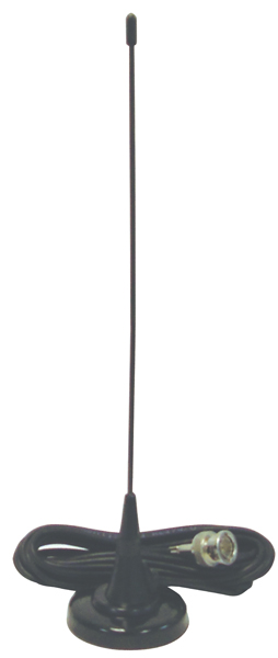 """AUSCAN3 - 2"""" Magnetic Mount 16"""" Scanner Antenna with Coax"""