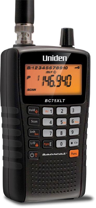 BC75XLT - Uniden 300 Channel Handheld Analog Scanner