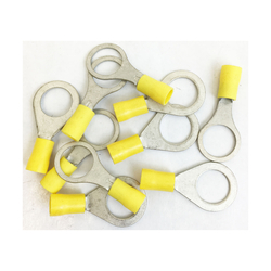 RINGY12/10 - Yellow Ring Terminal Connector 1/2 Inch (10 Per Bag)