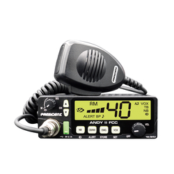 ANDYII-T - President 12-24 VDC CB Radio with 7 Color Display (Peaked & Tuned)