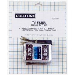 1093 - Goldline TVI High Pass Filter for Reducing TV Radio Interference (Analog- not Digital)