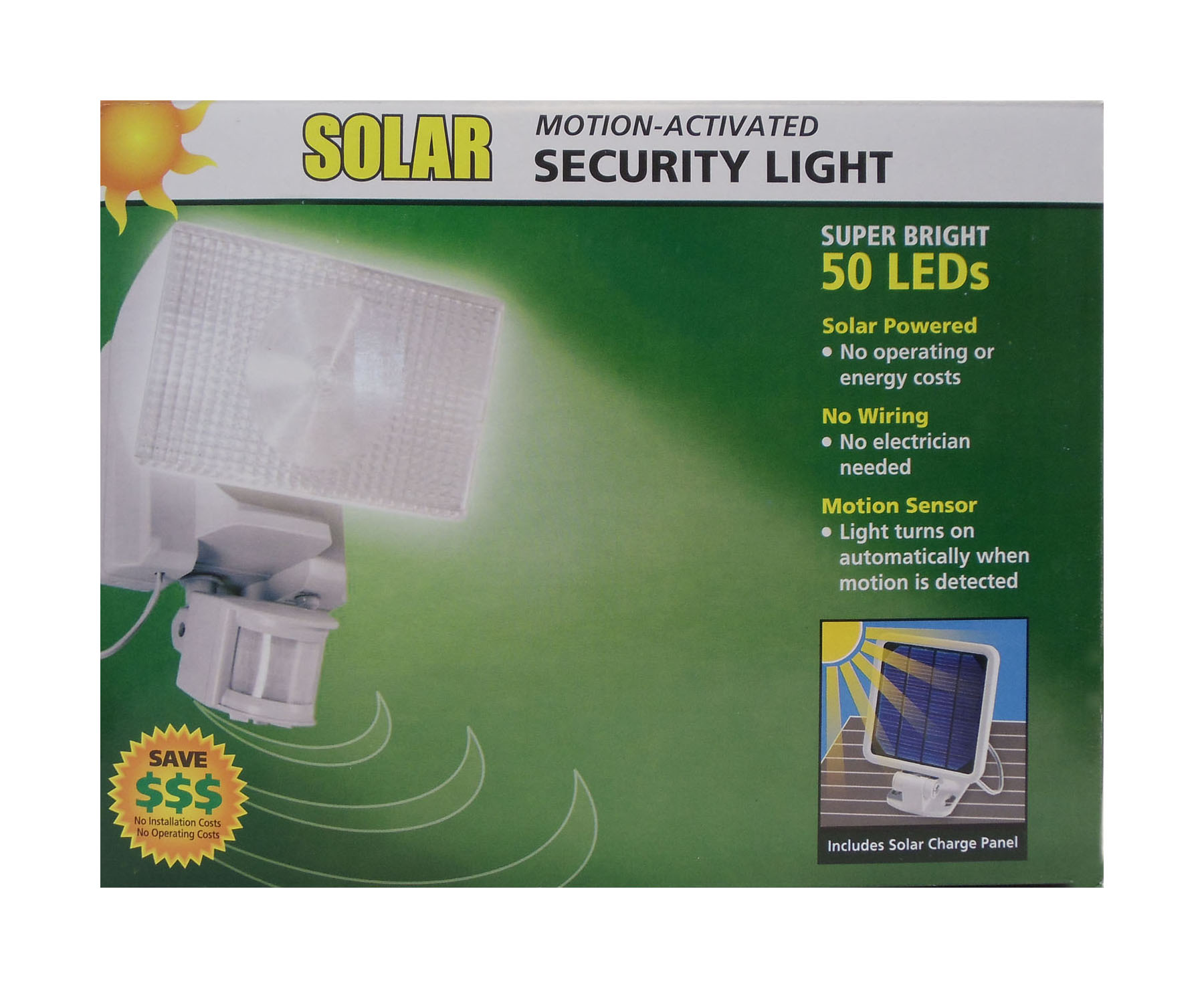 40224 - Maxsa Solar Motion Activated 50 Led Security Floodlight In White