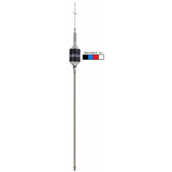 "SCB-W - Hustler 46"" CB Super Resonator Antenna, 22"" SS Mast & Spring-White"