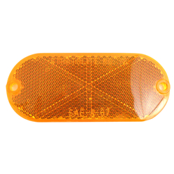 "049480A - 4-3/8"" Oval Sae-A-67 Stratolight No. 78 Amber Reflector"