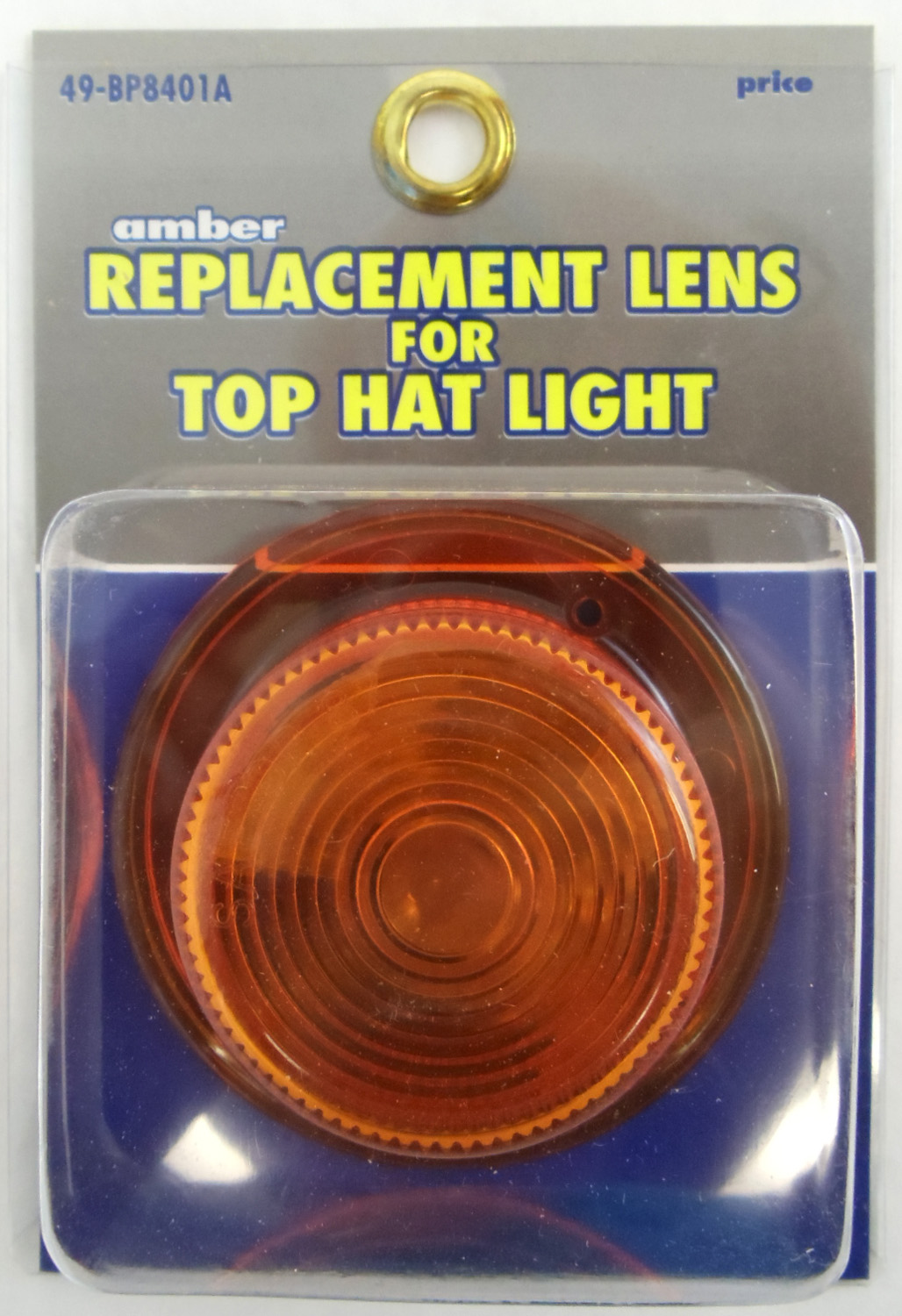049BP8401A - Amber Replacement Lens For Top Hat Light
