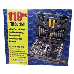 07510019 - 119 Piece Metric Tool Set