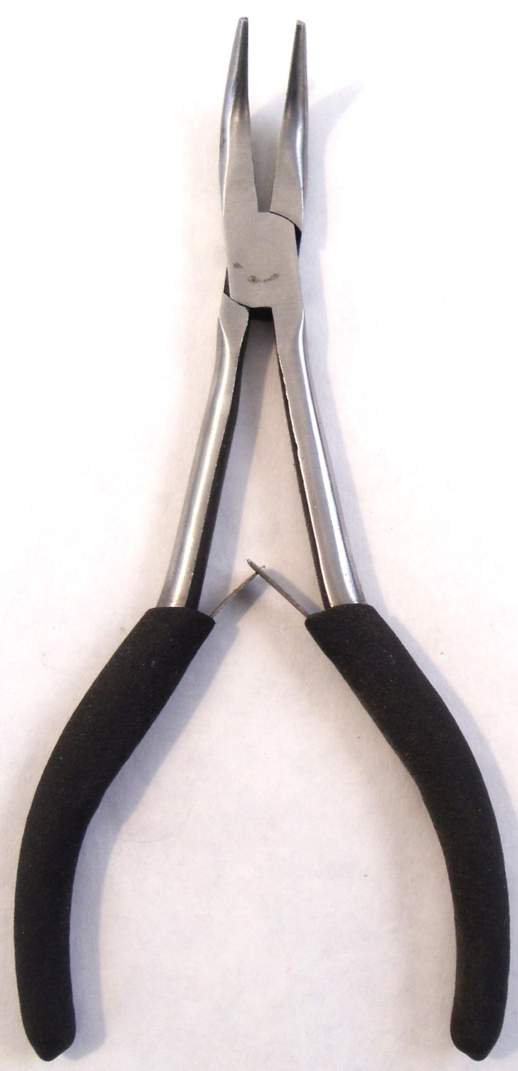 "0751484 - 6"" Bent Nose Plier With Rubber Grips"