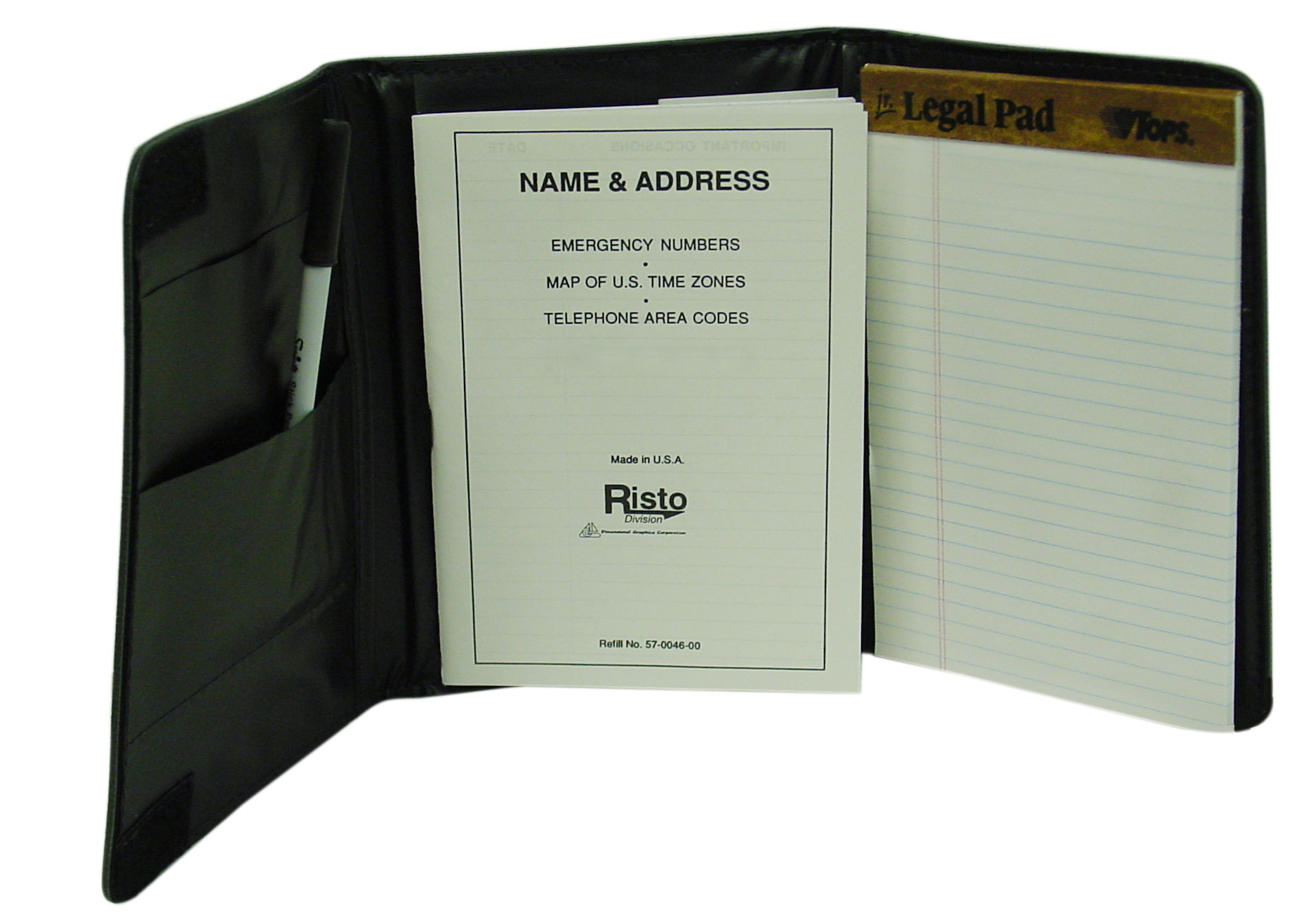 "0882460 - Risto Tri-Fold Telephone & Address Book With 5/8"" Pad & Pen"