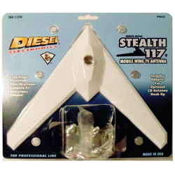 360117MW - Diesel Stealth Bomber 117 Mobile Wing TV Antenna (Can also be used with CB antenna!)
