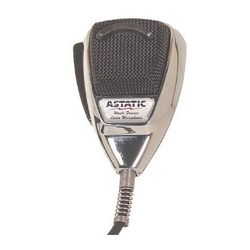 636L-C - Astatic 4 Pin Dynamic Microphone with Chrome Body & Black Grill / Chrome Cord