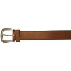 "10625410232 - 32"" Plain Brown Leather Field & Stream Belt"