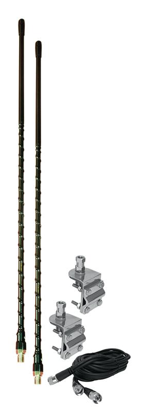 HSD995-4B - ProComm 4' Dual 3-Way Mirror/Side Mount Antenna Kit