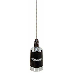 LMG150 - HUSTLER - 148-174 MHZ 200 WATT NMO STYLE 5/8 WAVE BASE LOAD ANTENNA WITH STAINLESS WHIP IN BLACK/CHROME FINISH
