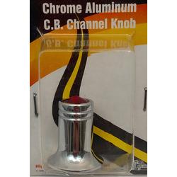 04851525 - Chrome Aluminum Jeweled Channel Knob (Red)