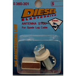 "360301 - Standard 3/8"" X 24 Aluminum Antenna Stud"