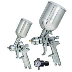 19219 - Titan Tools 3 Pc HVLP Gravity Feed Spray Gun Kit