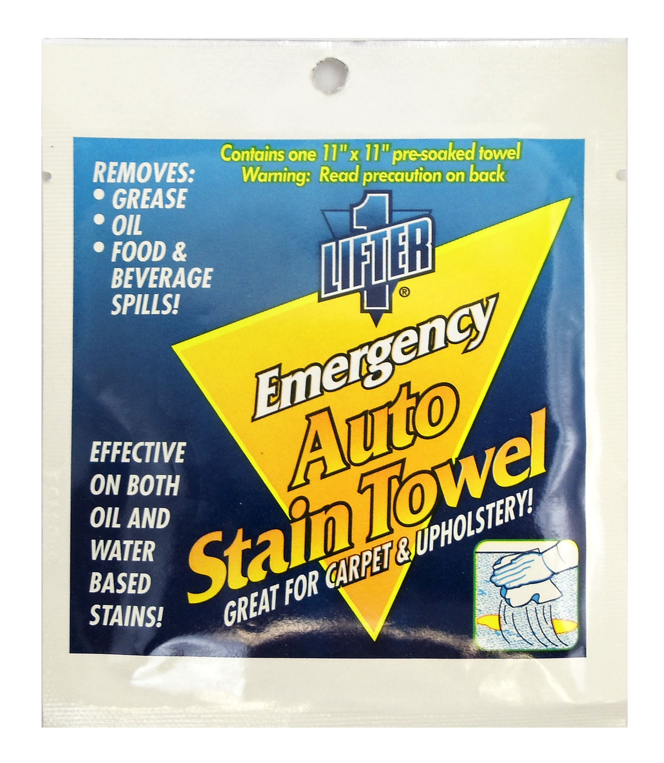 """03792795 - 11"""" X 11"""" Emergency Auto Stain Lifter Towelette"""